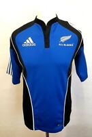 ADIDAS NEW ZEALAND Mens Rugby Shirt S Small Blue Polyester #4 JACK