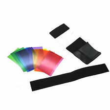 12pcs Flash Color Card Diffuser Lighting Gel Pop Up Filter for Camera Speedlite.