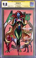 Avengers #8 💥 CGC 9.8 SS J Scott Campbell Convention Exclusive Cover 'D' Signed