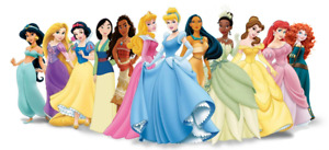 Disney Princess Character Iron On Tee T-Shirt Transfer