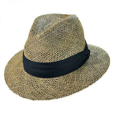 0946a032 Jaxon Hats Seagrass Straw Safari Fedora Hat