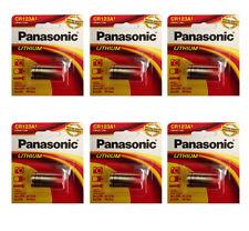 6 Pcs Panasonic CR123A CR-123 3V Lithium Photo Batteries for Cameras, Flashlight