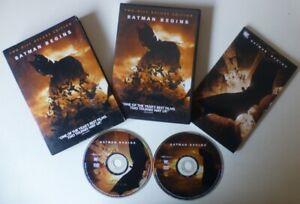 BATMAN BEGINS dvd set REGION 1 christian bale COLLECTORS EDITION with COMIC BOOK