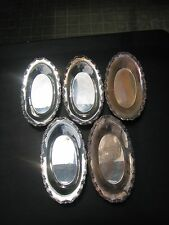 Vtg Qty 5 F. B. Rogers Silver Co #6013 Serving Trays