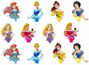 24 Half Body Princess Theme Party Edible Wafer Cup Cake Toppers
