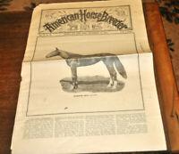 American Horse Breeder Sep 1891 w/ Mambrino Maid Tons Veterinary Cure & Farm Ads