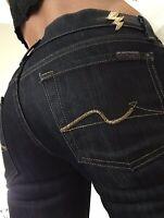 7 Seven for all mankind Straight Womens Dark Blue Denim Jeans size 25 x 31