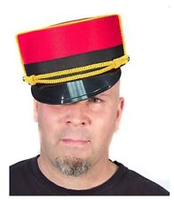 Bellboy Hat Authentic Movie Quality Red/Black, One Size