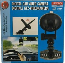 "12/24v DIGITAL DASH CAM HD 720p 2.5"" RE-CHARGABLE Camera Car Truck dashboard"