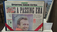 JOE MONTANA Upper Deck Authentic Signed Newspaper Auto 49ers w/Box Leather Valet