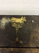 Vintage Brass Cow Door Wall Coat Hanger Free Ship