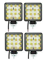 4x 48W LED 105x105cm 4320 lm Arbeitscheinwerfer 16LEDs Flutlicht Nebel Strahler