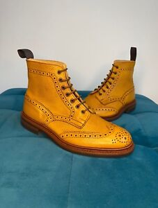 Mens Trickers Stow Country Boot Acorn Antique, Size 8.5 (Generous Fit/ 9)
