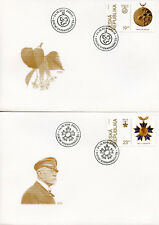 More details for czech republic 2018 fdc orders & medals 4v set of 4 covers military stamps