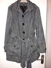 black and white coat size 18