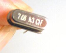 ACT Ltd 7.68 Mhz Crystal Oscillator P/N J00768I0EDAFL, HC 49S (x25) 10pcs OM1114