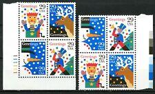 USA 1993, Scott # 2791 - 2794, MNH, 2 Blocks of 4, Christmas