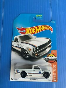 Hot Wheels Hot Trucks Datsun 620 White  FREE Protector