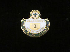 Lapel Pin,Green Cross For Safety,No Accident 1 Year Award T.C.G.A. Award,Enamel