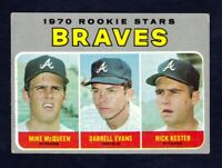 1970 Topps #621 / Darrell Evans RC - McQueen - Kester Braves Rookies / EXMT cond