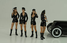 Sexy Girl Set Police Polizei 4 Figurines Figur Hot 1:18 Figures American Diorama