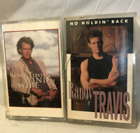 Randy Travis Two Different Cassette Tape Music Lot
