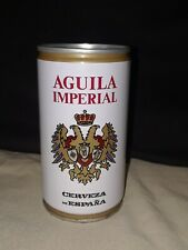 Aguila Imperial Beer 35cl Original flat top can Top Opened Spain