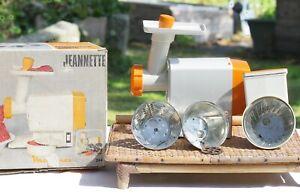 Robot jeannette Moulinex orange et beige vintage type 244