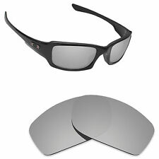 Hawkry Polarized Replacement Lenses for-Oakley Fives Squared Silver Titanium