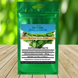 NoFillerSupplements 100% Pure Watercress Vegetable Capsules