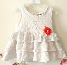 Speechless White Floral Lace Tiered Flared Knit Top Shirt Tank Flower Girls 5