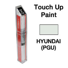 Hyundai OEM Brush&Pen Touch Up Paint Color Code : PGU - White Crystal