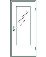 EHF–Tür mit LA, Dekor Esche weiß, 860x2110mm, RE