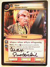 Autographed  2E Rom, Younger Brother  (Max Grodenchik)