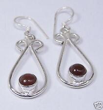 """Sterling Silver Carnelian Dangle Earrings 1-3/4""""  CARE38"""