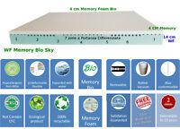 Materasso Matrimoniale Memory Foam Bio 7 Zone di portanza differenziata Fodera3D