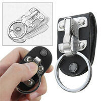 Stainless Steel Quick Release Detachable Key Chain Belt Clip Ring Holder Keyring