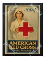 Historic WWI Recrutiment Poster American Red Cross Postcard
