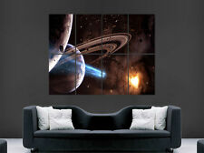 SPACE POSTER FANTASY PLANETS EARTH SCIENCE LARGE WALL PICTURE POSTER GIANT HUGE