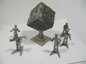 Rawcliffe Star Trek TNG Borg Cube Ship Pewter Statue Plus 5 Figurines 1994