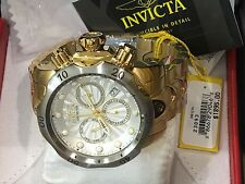 23893 Invicta Venom 53mm Swiss Parts Chronograph Silver Dial GP Bracelet Watch