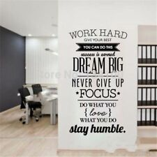 Dream Big Inspiration Quote Wall Stickers DIY Home Décor Poster