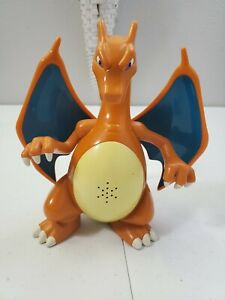 "RARE 2004 Hasbro Pokemon Charizard w Light and Sound Effects 7"" Tested and Works"