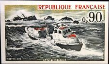 France francia 1974 1871 u 1401 imperf sea Rescue org. ship barco mnh
