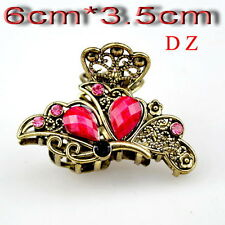 t624721 Fashion Rose Crystal butterfly crab Hair Crab clamp claws Clip hairpin