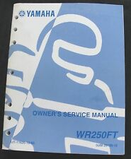 2004 2005 2006 Yamaha 250 WR250FT Moto de Cross Moto USUARIO Servicio Manual