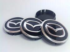 MAZDA 4pcs Plastic Wheel Centre Caps with Alu Emblem 60mm/55mm NEW