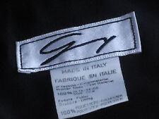 ItalianMadeBlueFloralBlk100%SilkShell Size8asNEW