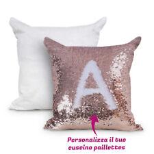 Cuscino in Paillettes Personalizzabile con Foto Testi e Immagini Federa Quadrata