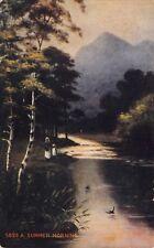 (611) Postcard of A Summer Morning Posted Oct 14, 1912 Norfolk Va.